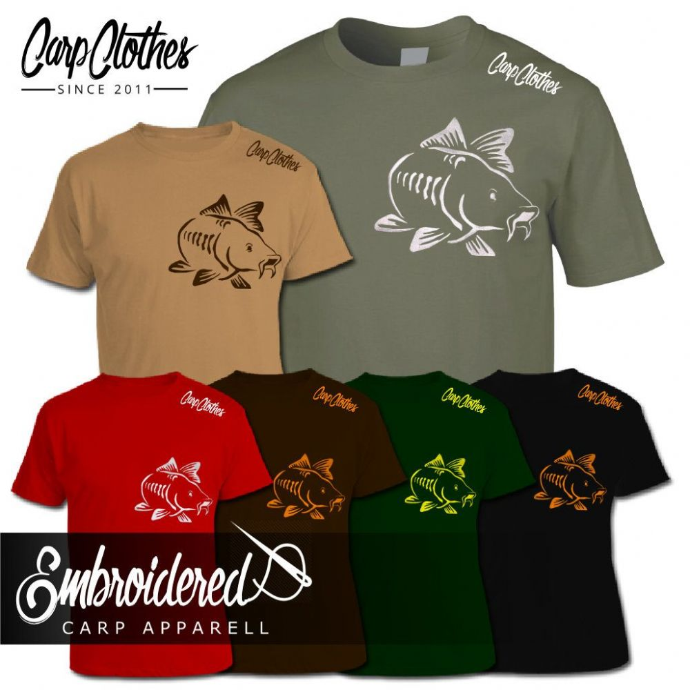 003 EMBROIDERED CARP T-SHIRT
